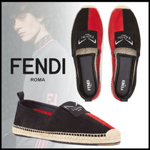 FENDI Street Style Bi-color Leather Loafers & Slip-ons