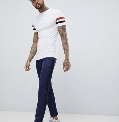 ASOS More T-Shirts Street Style Cotton Short Sleeves T-Shirts 5