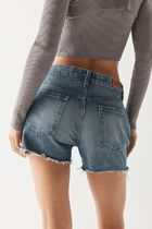 Urban Outfitters Short Casual Style Unisex Denim Blended Fabrics Street Style