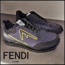 FENDI Street Style Plain Leather Sneakers