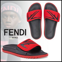 FENDI Street Style Bi-color Leather Sport Sandals Sports Sandals