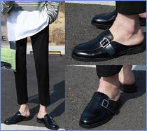 ASCLO Loafers Street Style Plain Leather Loafers & Slip-ons