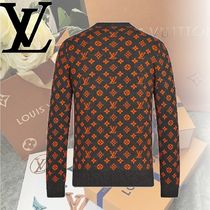 Louis Vuitton Crew Neck Monogram Cashmere Long Sleeves Knits & Sweaters