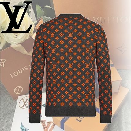 Louis Vuitton Knits & Sweaters Crew Neck Monogram Cashmere Long Sleeves Knits & Sweaters