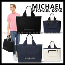 Michael Kors Unisex Canvas A4 Plain Totes