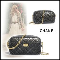 CHANEL 2019-20AW CAMERA CASE gray shoulder bags