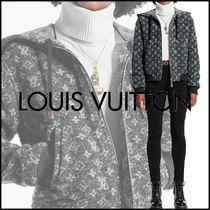 Louis Vuitton MONOGRAM Monogram Unisex Wool Blended Fabrics Street Style Bi-color