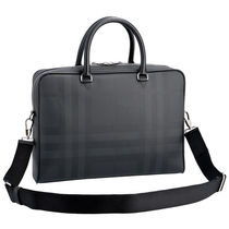 Burberry Other Check Patterns A4 2WAY Plain Business & Briefcases