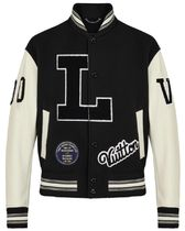 Louis Vuitton Short Blended Fabrics Plain Leather Varsity Jackets