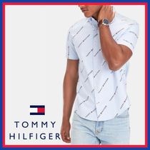 Tommy Hilfiger Street Style Cotton Short Sleeves Shirts