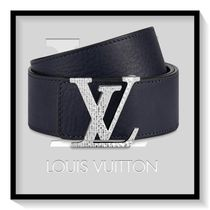 Louis Vuitton Plain Leather Long Belt Logo Belts