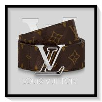 Louis Vuitton Monogram Leather Long Belt Logo Belts