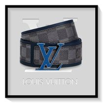 Louis Vuitton Other Check Patterns Leather Long Belt Logo Belts