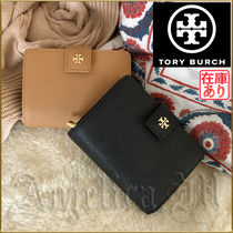 Tory Burch Unisex Saffiano Plain Folding Wallets