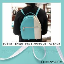 Tiffany & Co Casual Style Plain Leather Backpacks