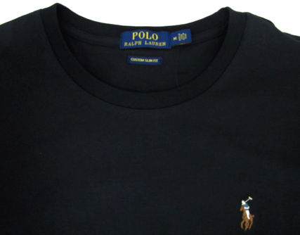 Ralph Lauren Crew Neck Crew Neck Pullovers Plain Cotton Short Sleeves 5