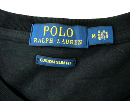 Ralph Lauren Crew Neck Crew Neck Pullovers Plain Cotton Short Sleeves 7