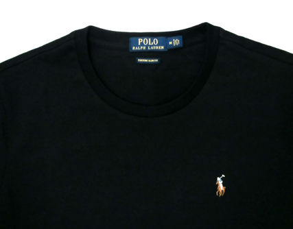 Ralph Lauren Crew Neck Crew Neck Pullovers Plain Cotton Short Sleeves 10
