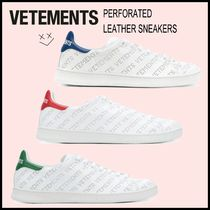 VETEMENTS Plain Toe Casual Style Unisex Street Style Low-Top Sneakers