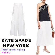 kate spade new york Linen Plain Long Culottes & Gaucho Pants