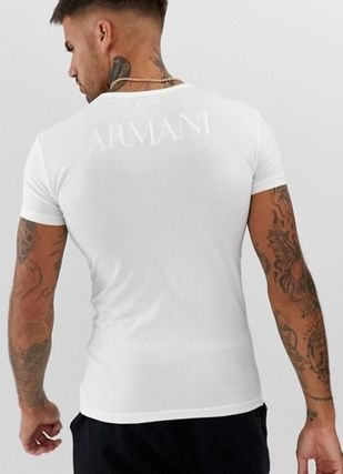 EMPORIO ARMANI More T-Shirts Street Style Plain Cotton Short Sleeves T-Shirts 3