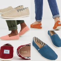 TOMS Plain Toe Plain Loafers & Slip-ons