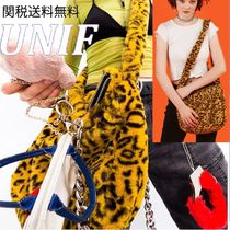 UNIF Clothing Leopard Patterns Casual Style Shoulder Bags