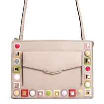 FENDI KAN I Studded Shoulder Bags