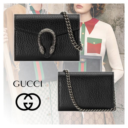 GUCCI Dionysus Leather Coin Purses