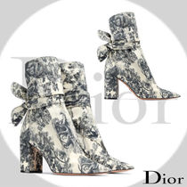 Christian Dior Block Heels Elegant Style Ankle & Booties Boots
