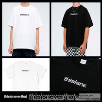 thisisneverthat Crew Neck Unisex Street Style Cotton Short Sleeves