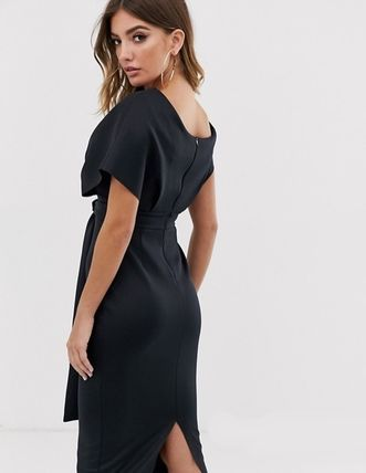 ASOS Dresses Tight V-Neck Plain Medium Party Style Dresses 6