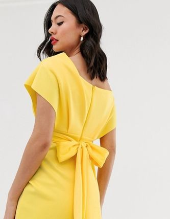 ASOS Dresses Tight V-Neck Plain Medium Party Style Dresses 9