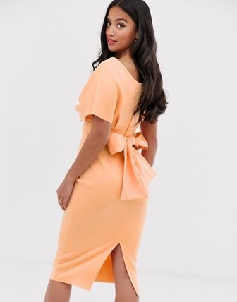 ASOS Dresses Tight V-Neck Plain Medium Party Style Dresses 12
