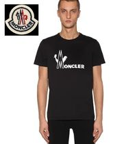 MONCLER Crew Neck Unisex Cotton Crew Neck T-Shirts