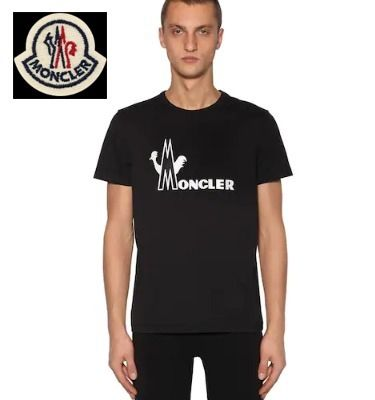 MONCLER Crew Neck Crew Neck Unisex Cotton Crew Neck T-Shirts