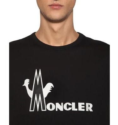 MONCLER Crew Neck Crew Neck Unisex Cotton Crew Neck T-Shirts 2