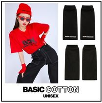 BASIC COTTON Unisex Street Style Cotton Gloves Gloves