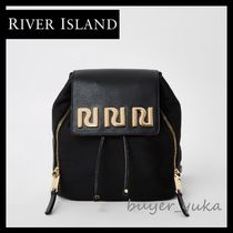 River Island Casual Style Nylon Chain Backpacks