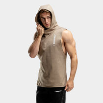SQUAT WOLF Pullovers Sleeveless Street Style Cotton Vests & Gillets