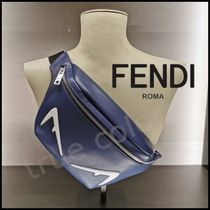 FENDI Calfskin Street Style 2WAY Plain Messenger & Shoulder Bags