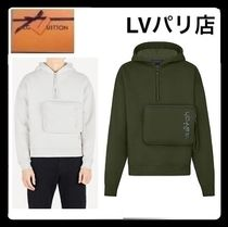Louis Vuitton Pullovers Unisex Long Sleeves Cotton Sweatshirts