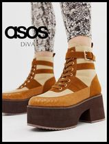 ASOS Casual Style Faux Fur Plain Other Animal Patterns