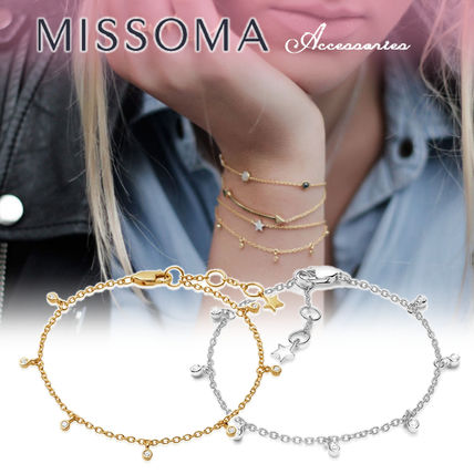Star Casual Style Chain 18K Gold Bracelets