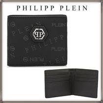 PHILIPP PLEIN Unisex Nylon Blended Fabrics Folding Wallets