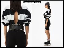 Alexander Wang Stripes Casual Style Street Style Long Sleeves Polo Shirts