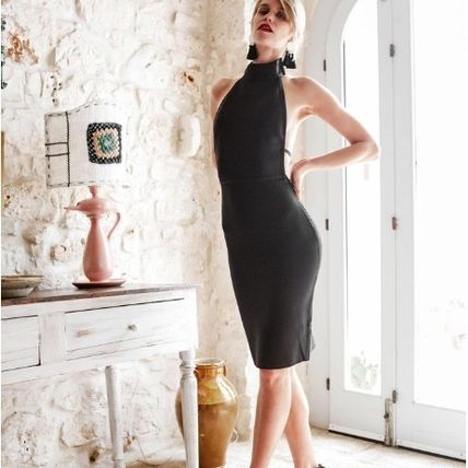 Tight Plain Party Style Dresses