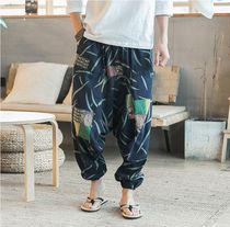 Street Style Patterned Pants