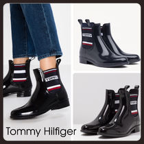 Tommy Hilfiger PVC Clothing Flat Boots
