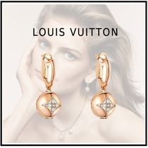 Louis Vuitton 18K Gold Elegant Style Earrings & Piercings